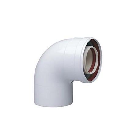 Curva Coassiale 90° diametro 60/100 per caldaie