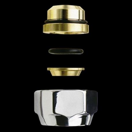 Coppia Raccordo per tubo rame SR 12mm